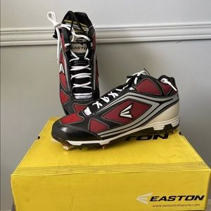Easton Men's Blk Red Metal Baseball Cleats Size 14